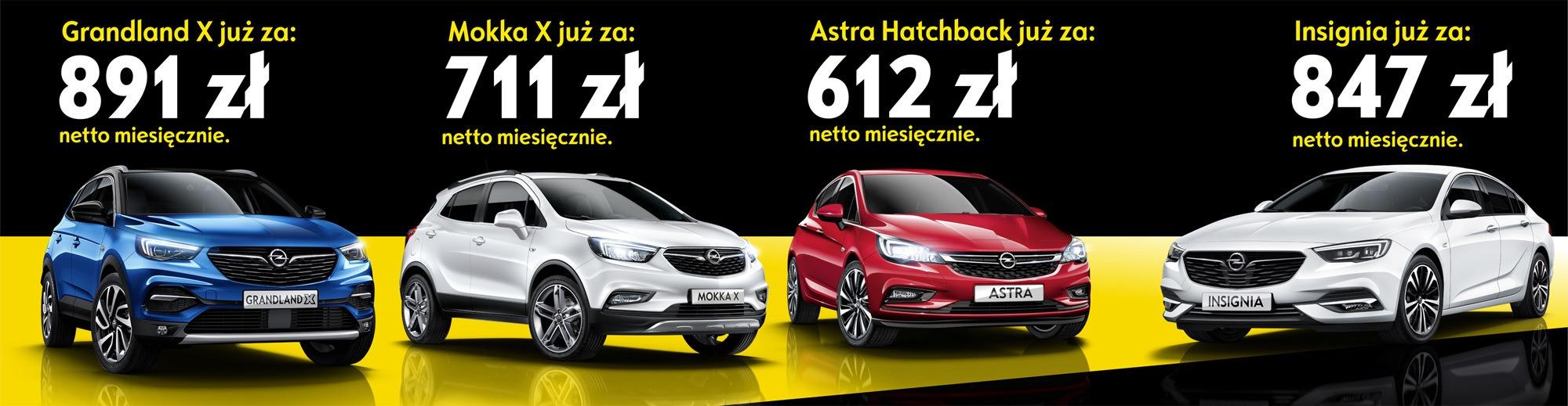 Opel AutoŻoliborz przykładowe ceny samochodów w programie Opel Drive Plan.