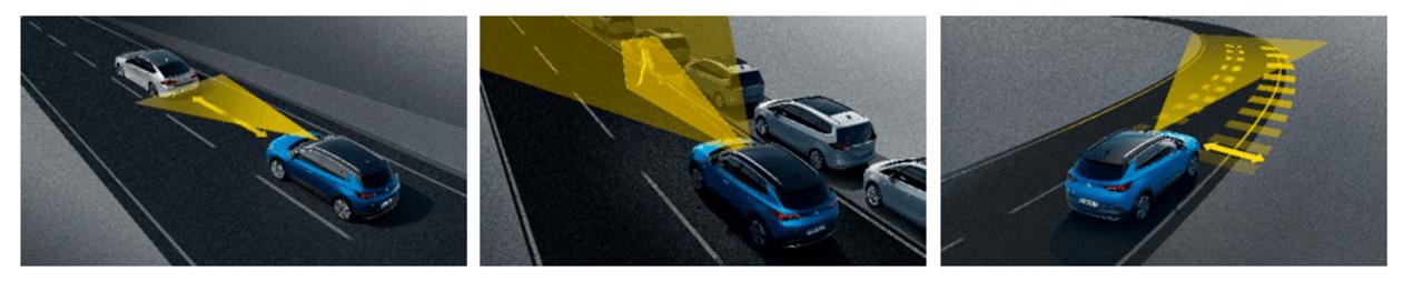 Światła AFL, światła miejskie, Opel Grandland X, doświatlanie zakrętów, światła manewrowe