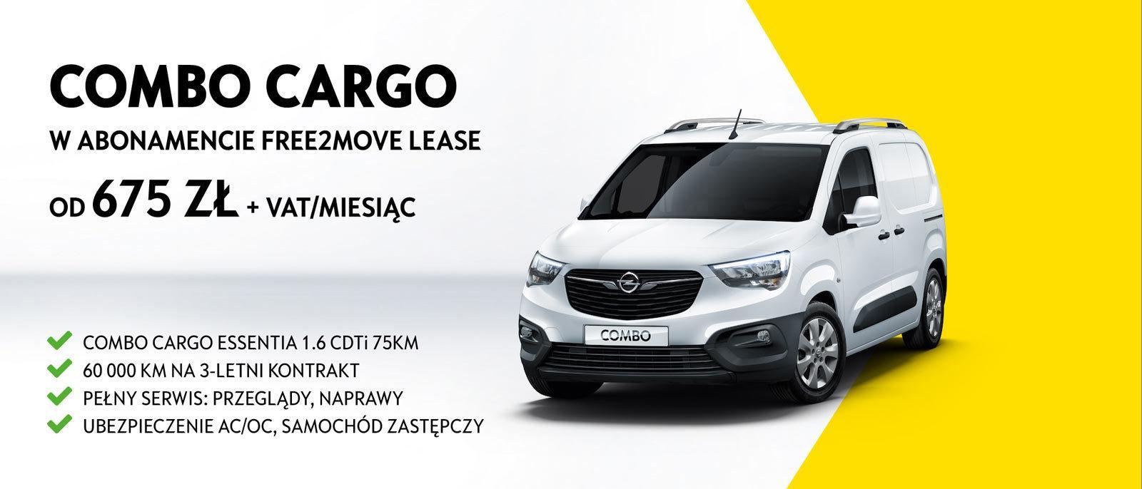 Opel Combo Cargo w abonamencie Free2Move Lease