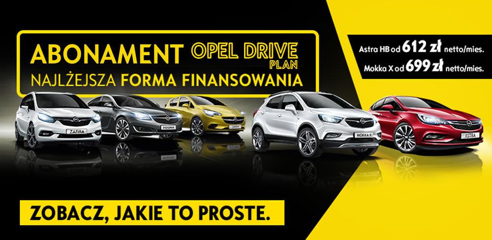 Abonament Opel Drive Plan. Astra, MOKKA X