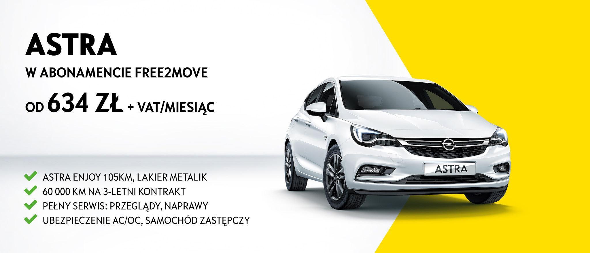 Opel Astra abonament