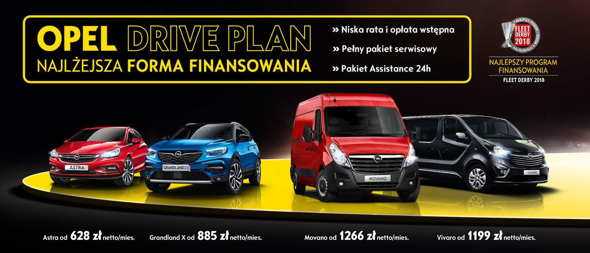 Abonament Opel Drive Plan. Astra, Grandland X, Movano, Vivaro