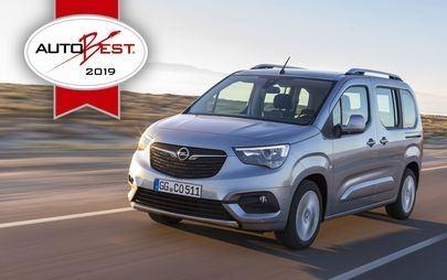 """Gala AUTOBEST: Opel Combo Life otrzymuje tytuł """"Best Buy Car of Europe 2019"""""""