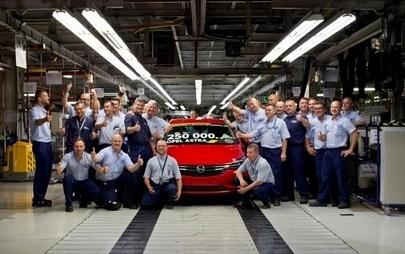 250 000. Opel Astra Hatchback wyprodukowany w Gliwicach