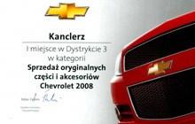 Salony Kanclerz nagrodzone za sprzedaż oryginalnych części i akcesorió Chevrolet