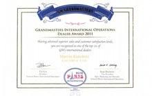 Salony Kanclerz otrzymują tytuł Grandmasters International Operations Dealer Award 2011
