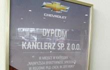 Salony Kanclerz zajmują I miejsce w sprzedaży samochodów Chevrolet w Polsce