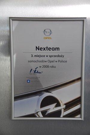 III miejsce Największa Sprzedaż Samochodów w 2008 - Opel Poland